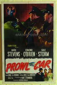 t063 BETWEEN MIDNIGHT & DAWN style A one-sheet poster '50 Mark Stevens, Edmond O'Brien, Gale Storm