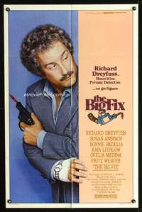 t065 BIG FIX one-sheet movie poster '78 detective Richard Dreyfuss!