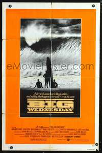 t067 BIG WEDNESDAY one-sheet movie poster '78 John Milius classic surfing movie!