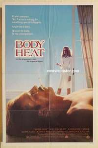 t074 BODY HEAT one-sheet movie poster '81 William Hurt, Kathleen Turner