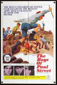 t081 BOYS OF PAUL STREET one-sheet movie poster '69 Hungarian rebel kids!