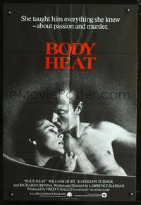 t075 BODY HEAT English one-sheet movie poster '81 William Hurt, Kathleen Turner