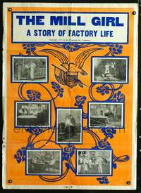 t403 MILL GIRL 29x41 one-sheet movie poster 1907 A Story of Factory Life, Florence Lawrence