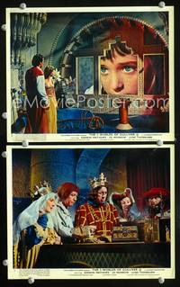 y037 3 WORLDS OF GULLIVER 2 English Front of House movie lobby cards '60 Mathews