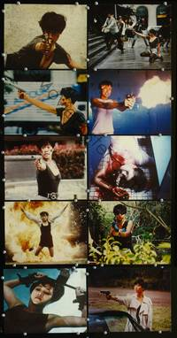 y070 BLACK CAT 10 color 8x10 movie stills '93 Hong Kong action!