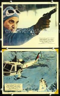 y042 ON HER MAJESTY'S SECRET SERVICE 2 English Front of House movie lobby cards '70