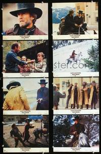 y012 PALE RIDER 8 English Front of House movie lobby cards '85 Clint Eastwood