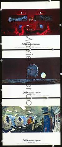 y032 2001: A SPACE ODYSSEY 3 English Front of House movie lobby cards '68 Cinerama