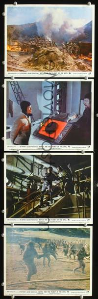 y026 BATTLE FOR THE PLANET OF THE APES 4 English Front of House movie lobby cards '73