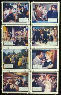 y011 OCEAN'S 11 8 English Front of House movie lobby cards '60 Sinatra, Rat Pack
