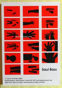 a043 SAUL BASS ART EXHIBITION English museum poster '74