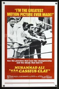 b026 A.K.A. CASSIUS CLAY one-sheet movie poster '70 champion boxer Muhammad Ali!