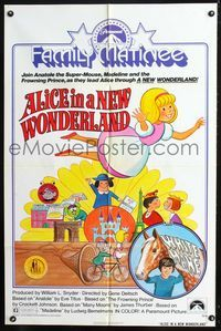 b034 ALICE OF WONDERLAND IN PARIS one-sheet R75 Crockett Johnson, James Thurbur, and other authors!