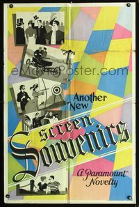 b047 ANOTHER NEW SCREEN SOUVENIRS one-sheet movie poster '32 A Paramount Novelty, cool design!