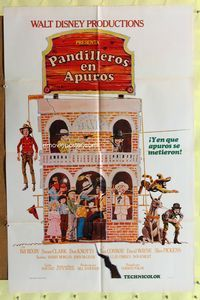 b050 APPLE DUMPLING GANG Spanish/U.S. one-sheet movie poster '75 Disney, Don Knotts, different image!