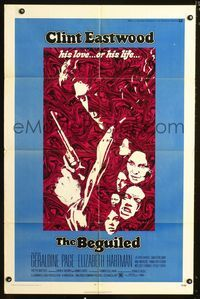 b066 BEGUILED one-sheet movie poster '71 Clint Eastwood, Geraldine Page, Don Siegel