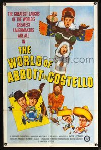 b015 WORLD OF ABBOTT & COSTELLO one-sheet movie poster '65 Bud & Lou's greatest laughmakers!