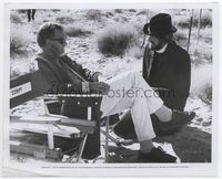 1b019 BALLAD OF CABLE HOGUE candid 8x10 '70 Sam Peckinpah in director's chair with David Warner!