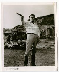 1b023 BIG COUNTRY 8x10 movie still '58 great full-length portrait of Gregory Peck aiming pistol!