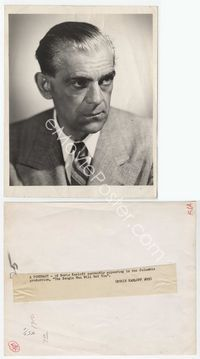 1b030 BOOGIE MAN WILL GET YOU 8x10 still '42 great close portrait of Boris Karloff in suit & tie!