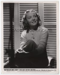 1b032 BROTHER RAT & A BABY 8x10.25 movie still '40 great smiling portrait of Jane Bryan!