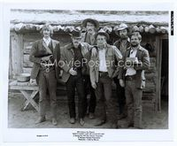 1b035 BUTCH CASSIDY & THE SUNDANCE KID 8.25x10 '69 great portrait of Newman, Redford & the gang!
