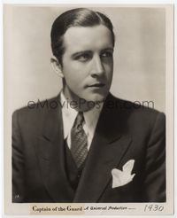 1b038 CAPTAIN OF THE GUARD 8x10 movie still '30 great close portrait of John Boles in suit & tie!