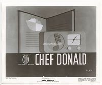 1b047 CHEF DONALD 8.25x10 '41 cool movie still with title image from the cartoon!