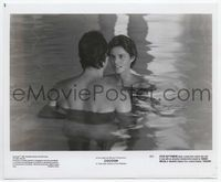 1b053 COCOON 8x10 movie still '85 Steve Guttenberg swims with sexy naked Tahnee Welch!