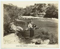 1b056 CONFLICT 8x9.75 movie still '36 John Wayne saves boy from drowning in river!