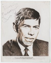 1b062 DEAD HEAT ON A MERRY-GO-ROUND signed 8x10 movie still '66 by James Coburn!