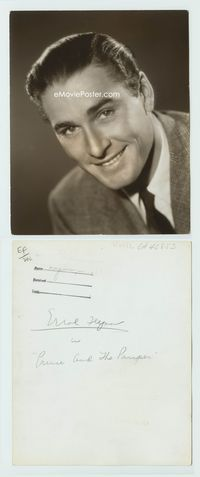 1b076 ERROL FLYNN deluxe 8x10 still '37 great super close up smiling portrait wearing suit and tie!