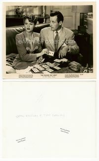 1b078 FALCON OUT WEST 8x10 movie still '44 Tom Conway watches Joan Barclay play solitaire!
