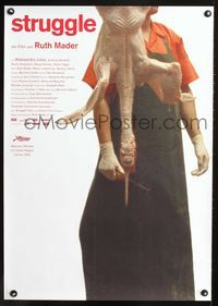 1e037 STRUGGLE Austrian movie poster '03 Ruth Mader, disturbing image of slaughtered poultry!