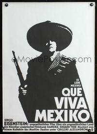 1e029 QUE VIVA MEXICO East German 23x32 movie poster '79 Sergei Eisenstein, cool art by Wengler!