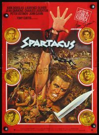 1e023 SPARTACUS French 15x21 R70s Kubrick, Kirk Douglas by Jean Mascii, signed by Jean Simmons!