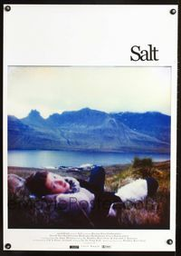 1e033 SALT Icelandic poster '03 cool image of Iceland's lake & mountains with girl in foreground!