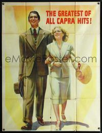 1m480 MR. SMITH GOES TO WASHINGTON top 2/3 3sh '39 Frank Capra, art of James Stewart & Jean Arthur!
