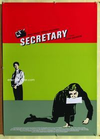 1p001 SECRETARY one-sheet movie poster '02 James Spader, Maggie Gyllenhaal, Steven Shainberg