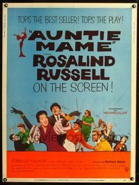 1s006 AUNTIE MAME 30x40 movie poster '58 classic Rosalind Russell family comedy from play and novel!