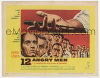 1y004 12 ANGRY MEN TC '57 Henry Fonda, Sidney Lumet courtroom jury classic,life is in their hands!!