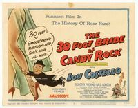 1y008 30 FOOT BRIDE OF CANDY ROCK TC '59 great art of Lou Costello, a science-friction masterpiece!