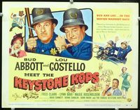 1y012 ABBOTT & COSTELLO MEET THE KEYSTONE KOPS title card '55 Bud & Lou in the movies' maddest days!