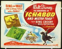1y018 ADVENTURES OF ICHABOD & MISTER TOAD TC '49 BING and WALT wake up Sleepy Hollow with a BANG!