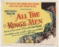 1y025 ALL THE KING'S MEN TC '50 Louisiana Governor Huey Long biography with Broderick Crawford!