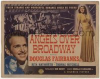 1y027 ANGELS OVER BROADWAY title card '40 sexy full-length Rita Hayworth, Douglas Fairbanks Jr.