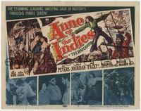 1y028 ANNE OF THE INDIES title card '51 artwork of history's fabulous pirate queen Jean Peters!