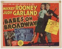 1y032 BABES ON BROADWAY TC '41 great full-length image of Mickey Rooney dancing with Judy Garland!