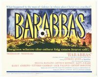 1y039 BARABBAS TC '62 what happened to the man of violence in whose place Christ was crucified?