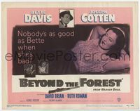 1y046 BEYOND THE FOREST TC '49 King Vidor, nobody's as good as smoking Bette Davis when she's bad!
